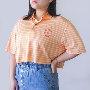 """""""Kill Your Idol"""" Orange Polo Crop Top"""